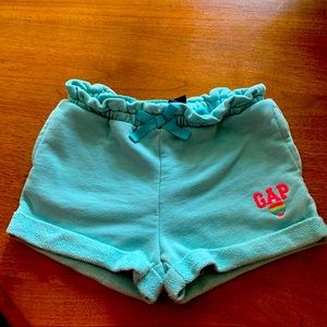 5/$15 Gap Kids aqua blue cotton shorts 5